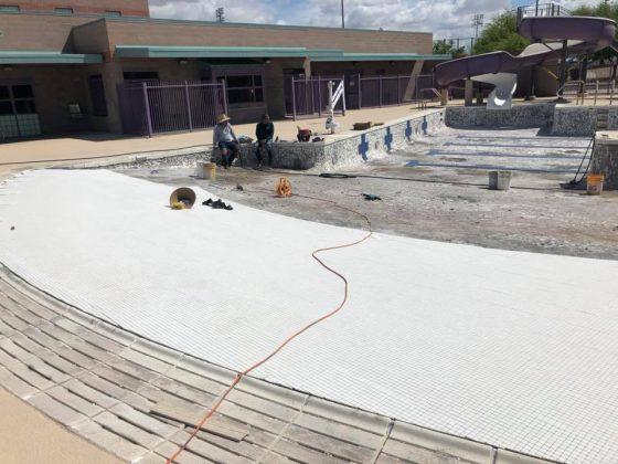 Kino YMCA - Beach Entry Tile Install